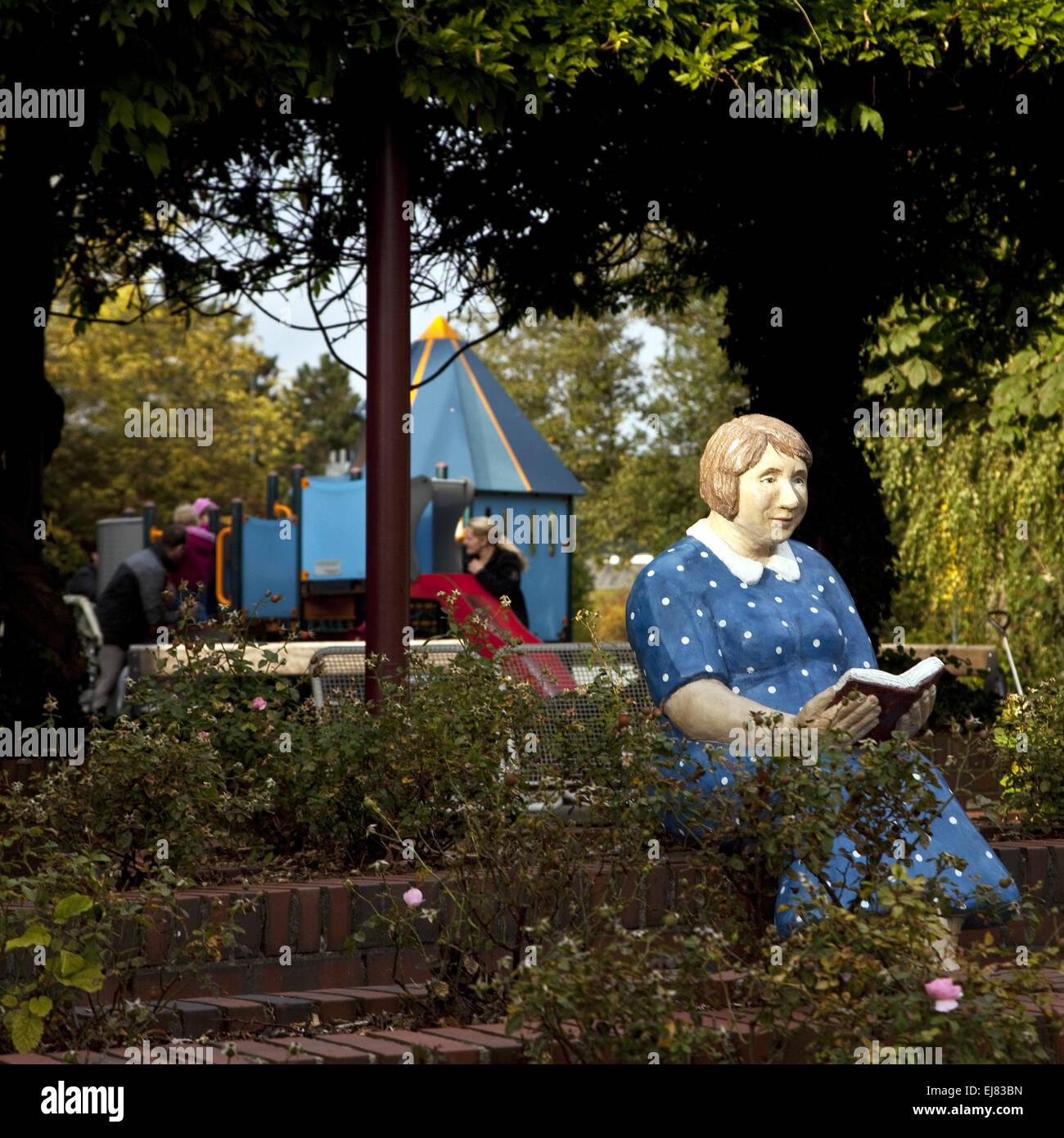 Sulptur gente giornaliere Gevelsberg, Germania Immagini Stock