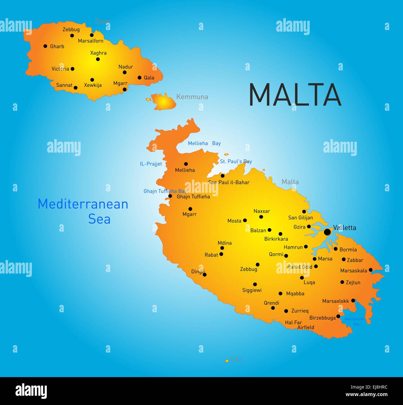 Cartina Stradale Di Malta