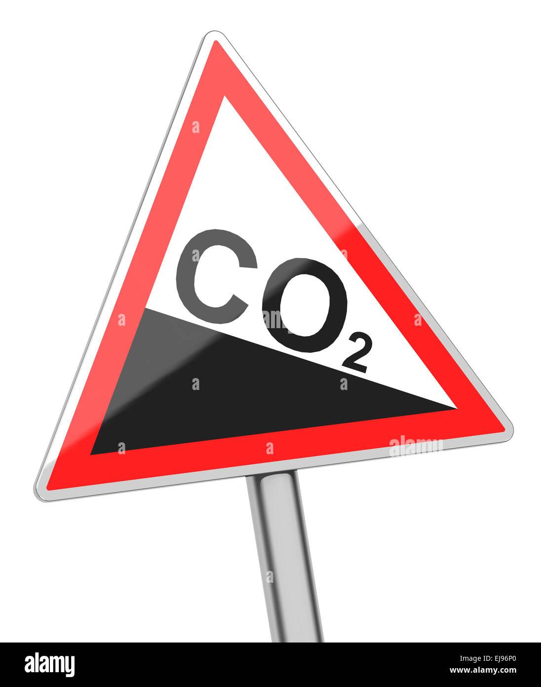 Il biossido di carbonio segno Immagini Stock