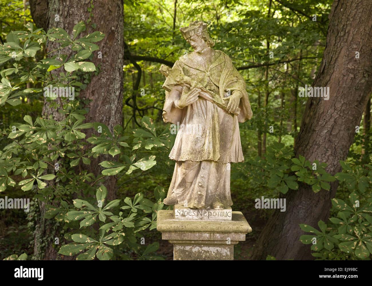 Statua religiosa, Ochtrup, Germania Immagini Stock
