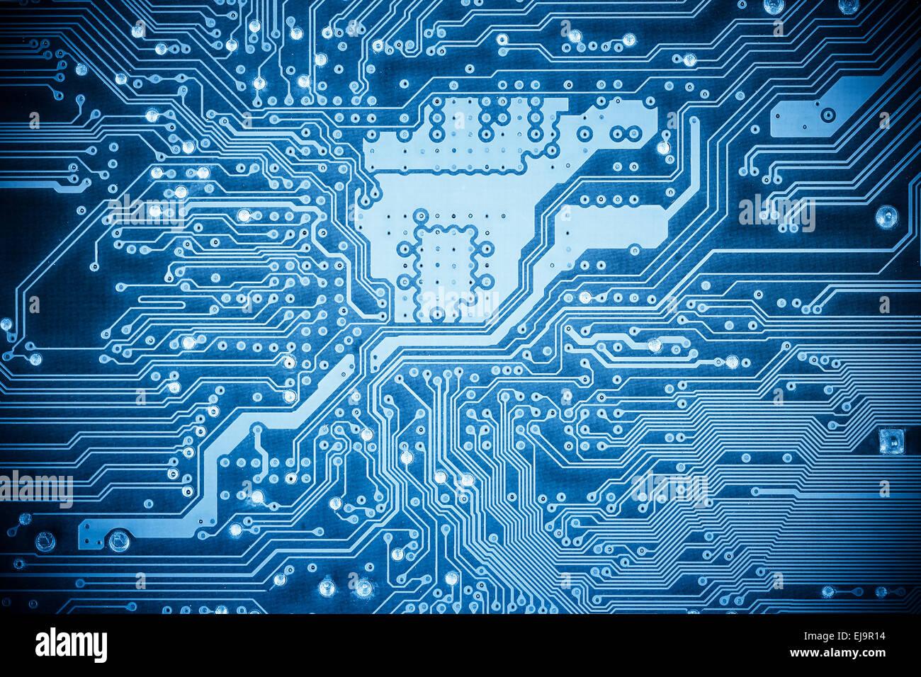 La complessità della scheda di circuito closeup Immagini Stock