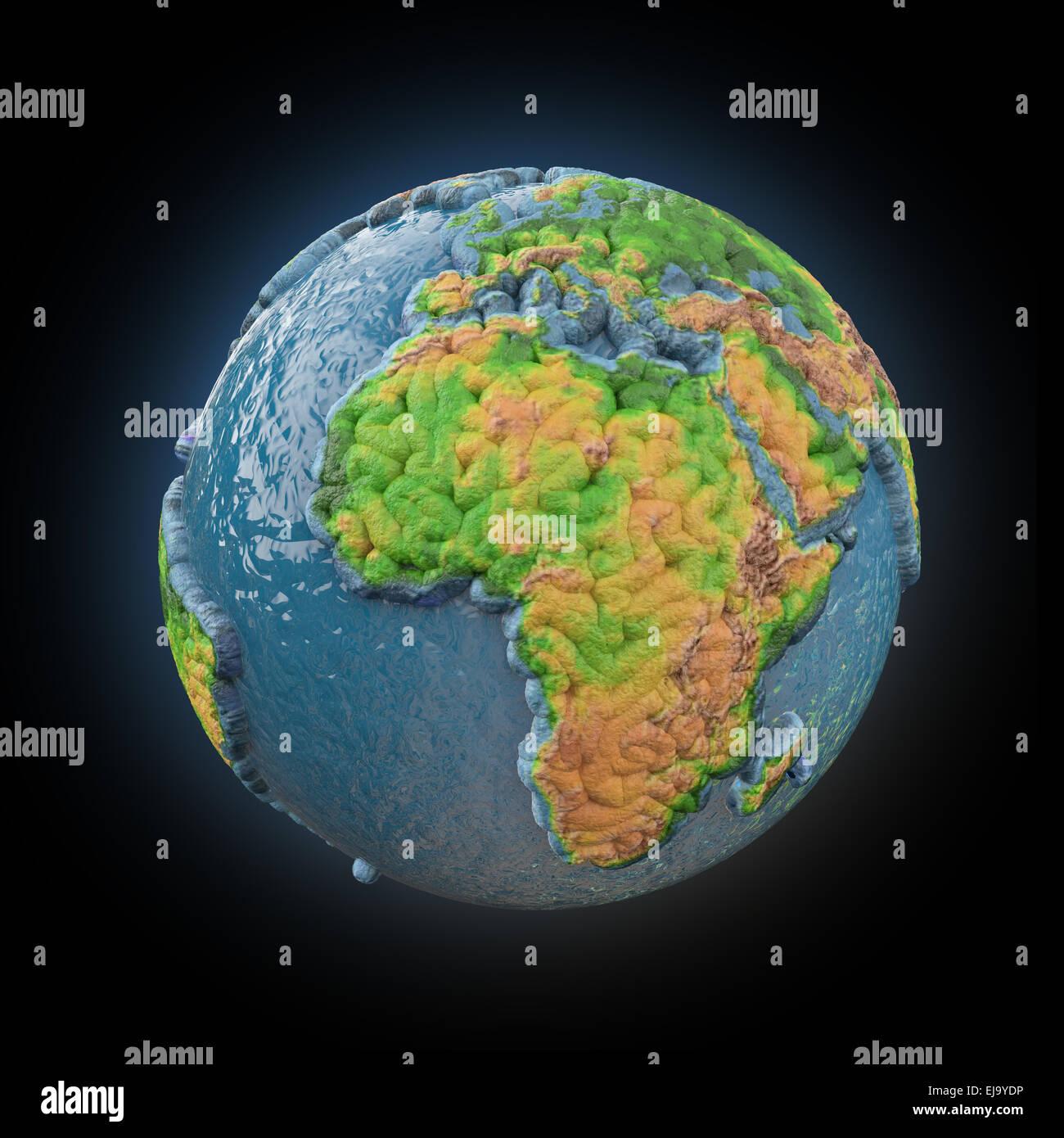 Stilizzata 3d astratto modello di messa a terra Immagini Stock