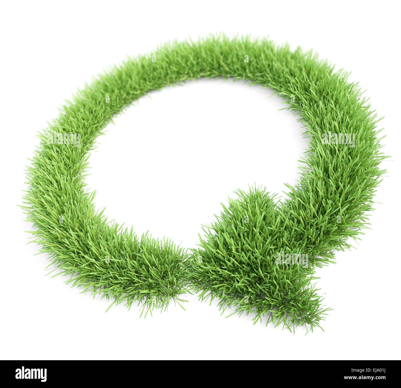 Patch di erba conformato come una freccia circolare Immagini Stock
