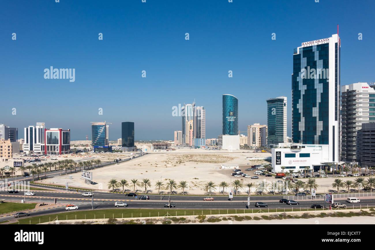 La costruzione di nuovi uffici in Bahrain Seef Immagini Stock