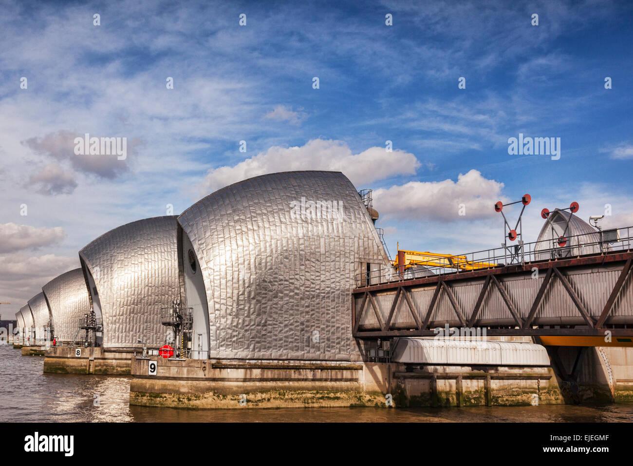 Thames Barrier, Londra, Inghilterra. Immagini Stock