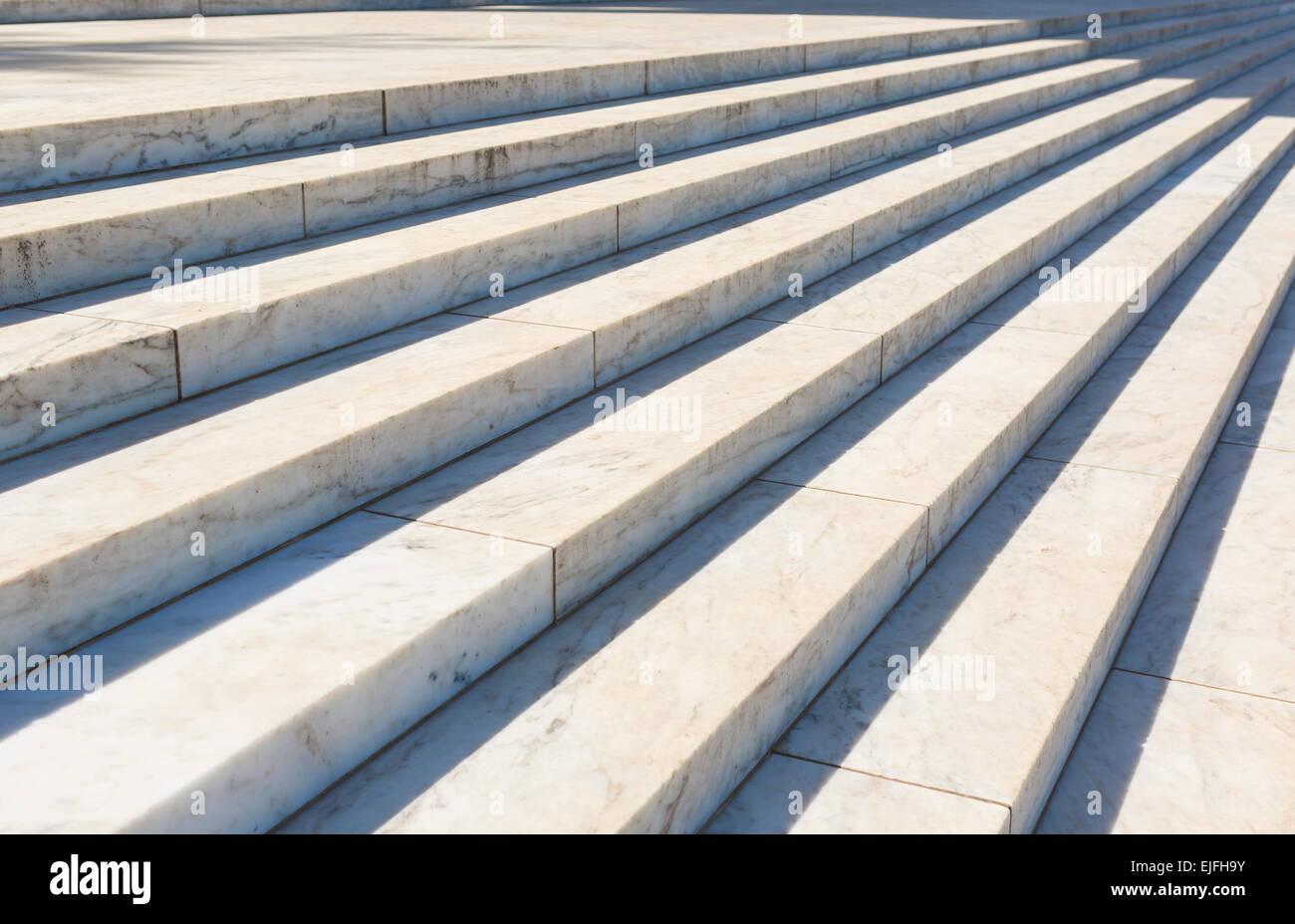 WASHINGTON, DC, Stati Uniti d'America - Jefferson Memorial, gradini di marmo. Immagini Stock
