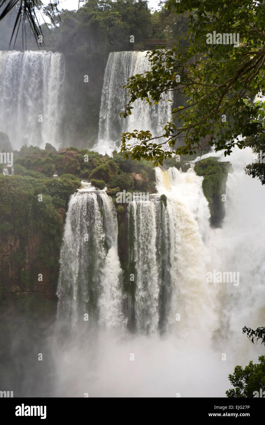 Argentina, Iguazu Falls, Salto Adan y Eva (Adamo ed Eva) cascate Immagini Stock