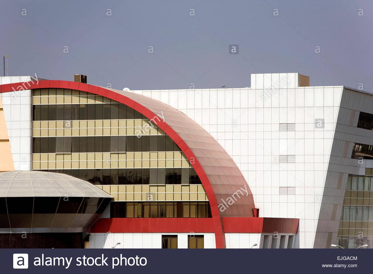 Hyderabad. Hi-Tech City. Edificio moderno. Immagini Stock