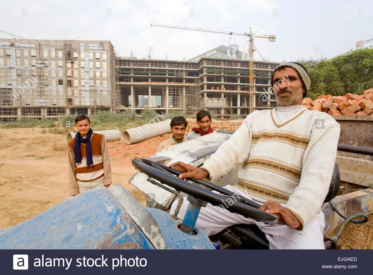 I lavoratori di Gurgaon. Immagini Stock