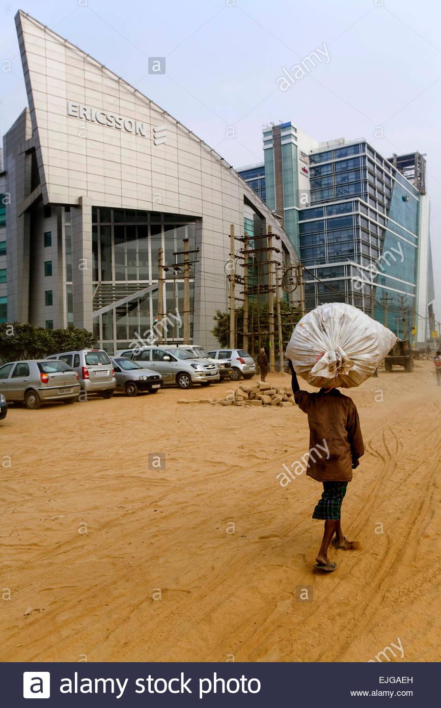 Ericsson edificio, Gurgaon. Immagini Stock