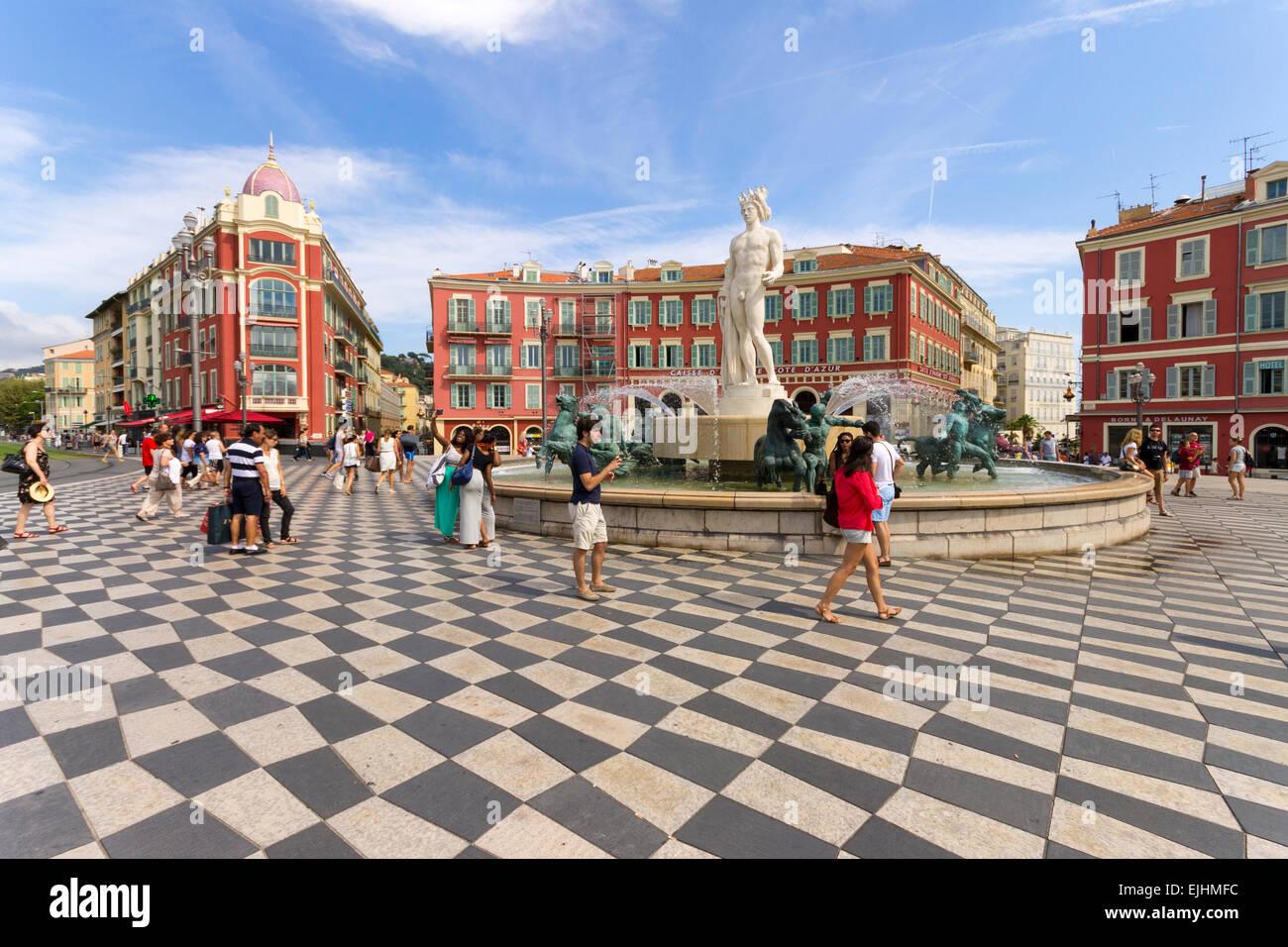 Francia - Cote d'Azur, Nizza, Piazza Massena Foto Stock
