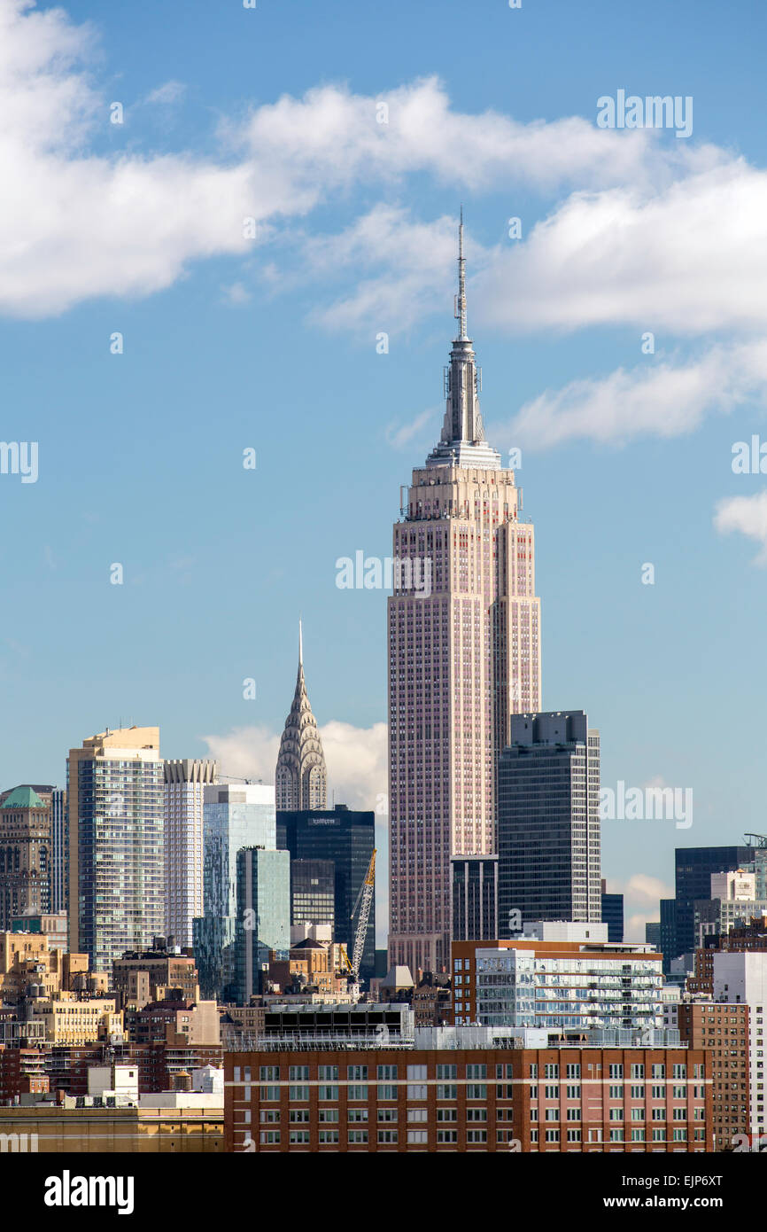 Empire State Building e Midtown Manhattan, New York, Stati Uniti d'America Immagini Stock