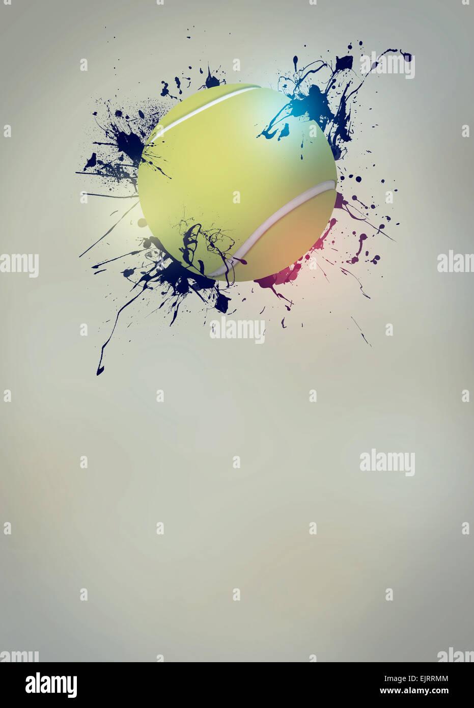 Abstract Tennis Sport Invito Poster E Volantini Sfondo Con Spazio
