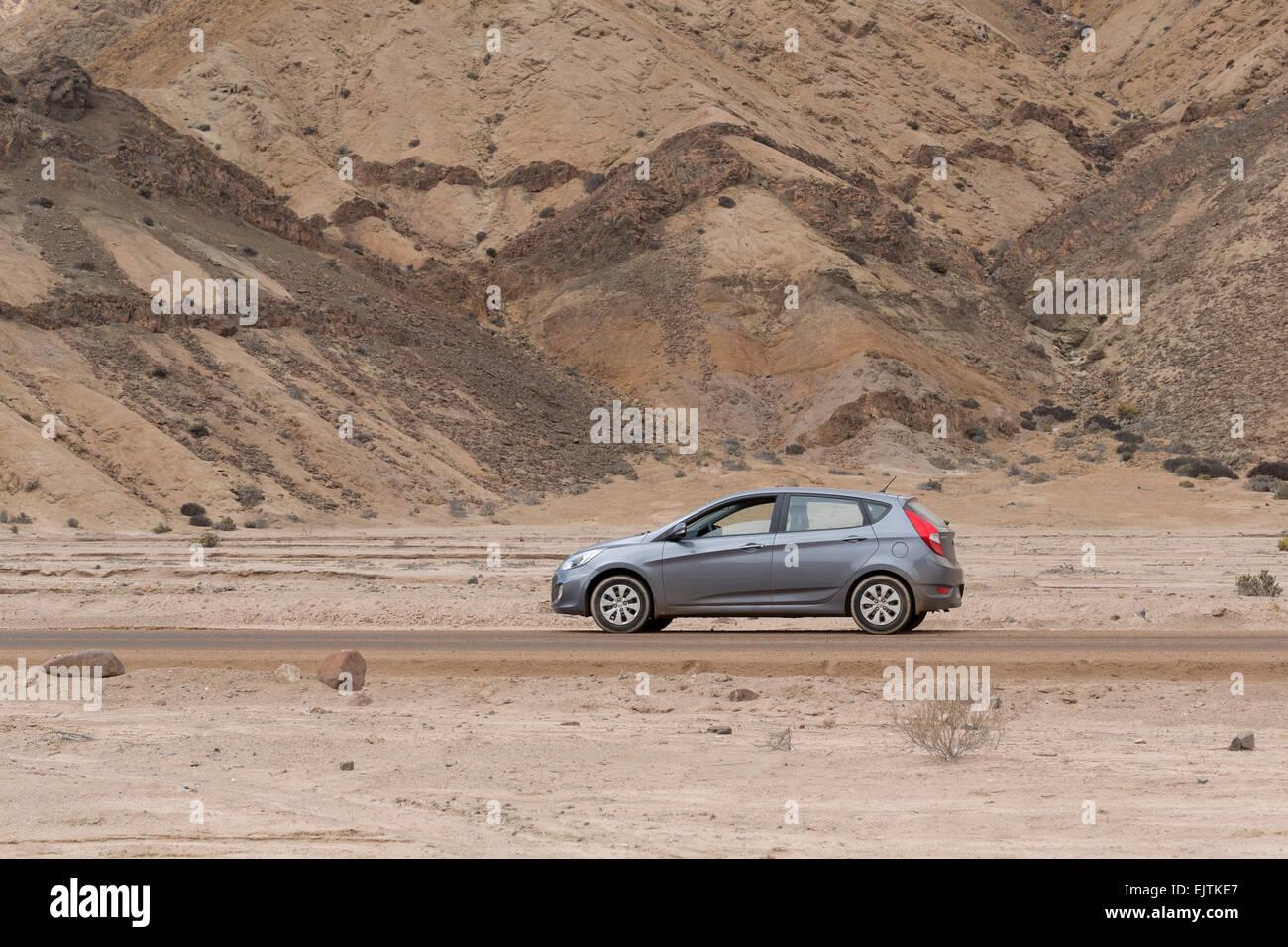 Hyundai Accent, 2014, il Deserto di Atacama, Cile Immagini Stock