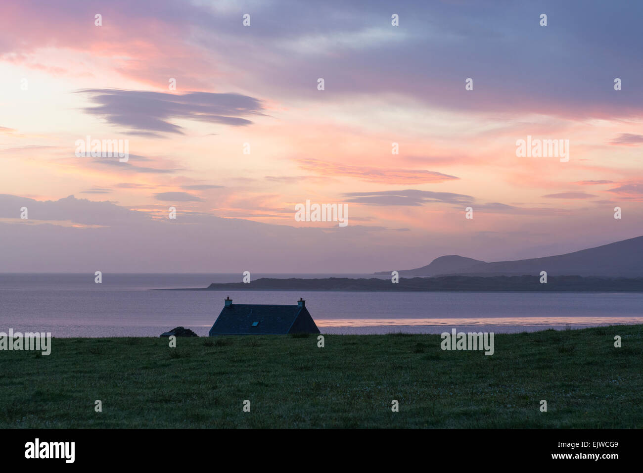 Gruinard bay riserva naturale sunrise alba Foto Stock