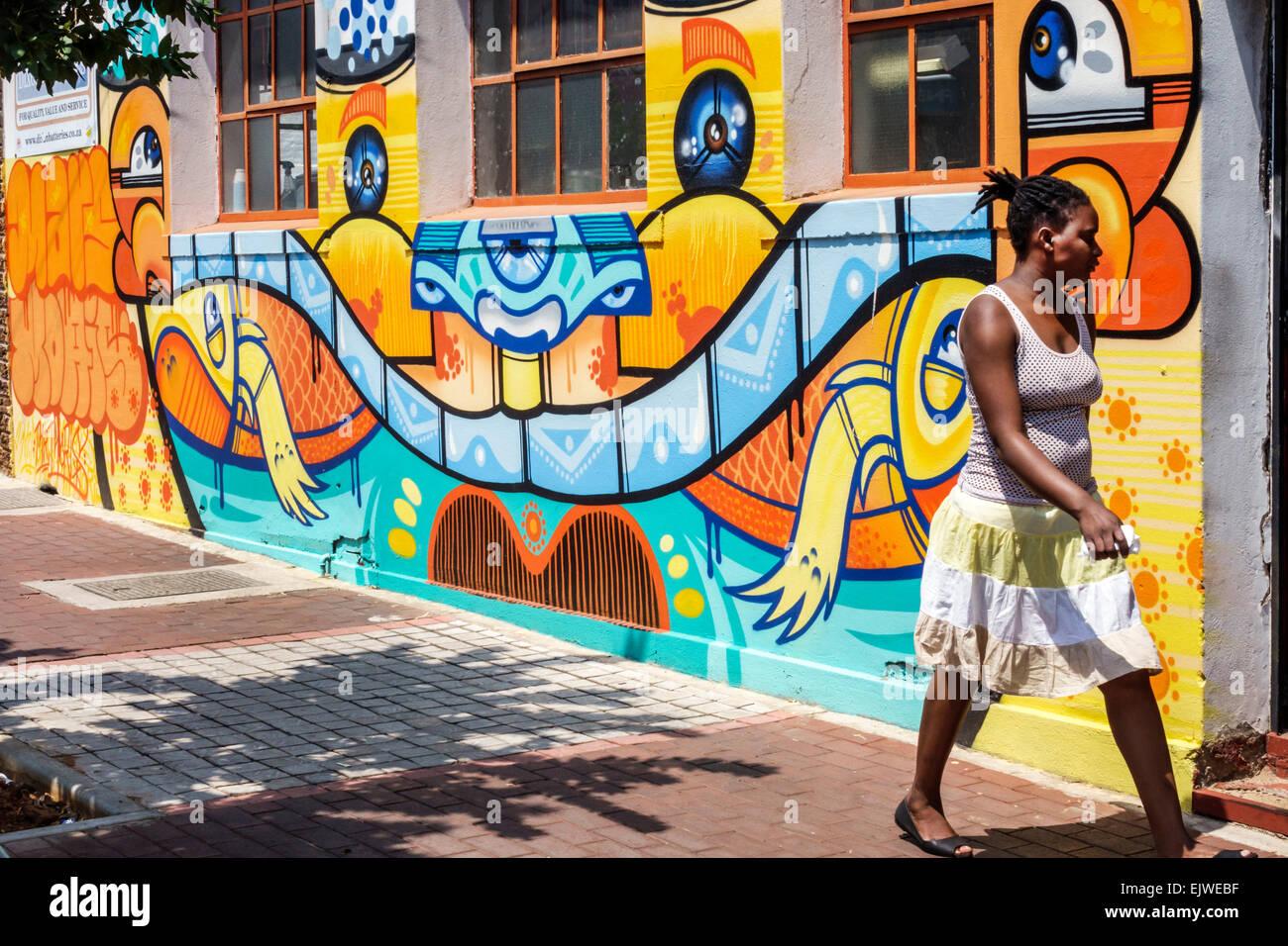 Johannesburg Sudafrica Africa quartiere Maboneng arti il Commissario principale Street gentrified quartiere urbano Immagini Stock