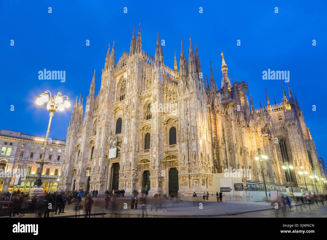 Il Duomo di Milano e il Duomo di Milano, Italia. Immagini Stock