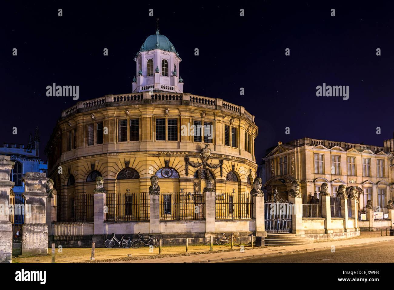 Il Sheldonian Theatre è un edificio di Oxford University utilizzato per concerti e cerimonie di premiazione, Immagini Stock