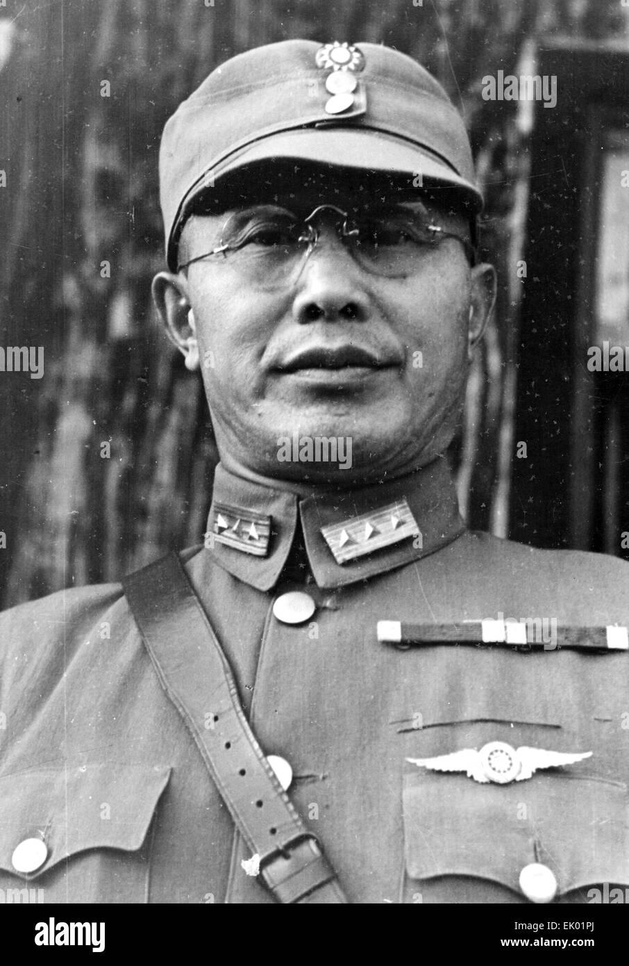 HO YING-mento -aka egli Yingqin (1890-1987) Kuomintang generale dell esercito e del ministro della guerra circa Immagini Stock
