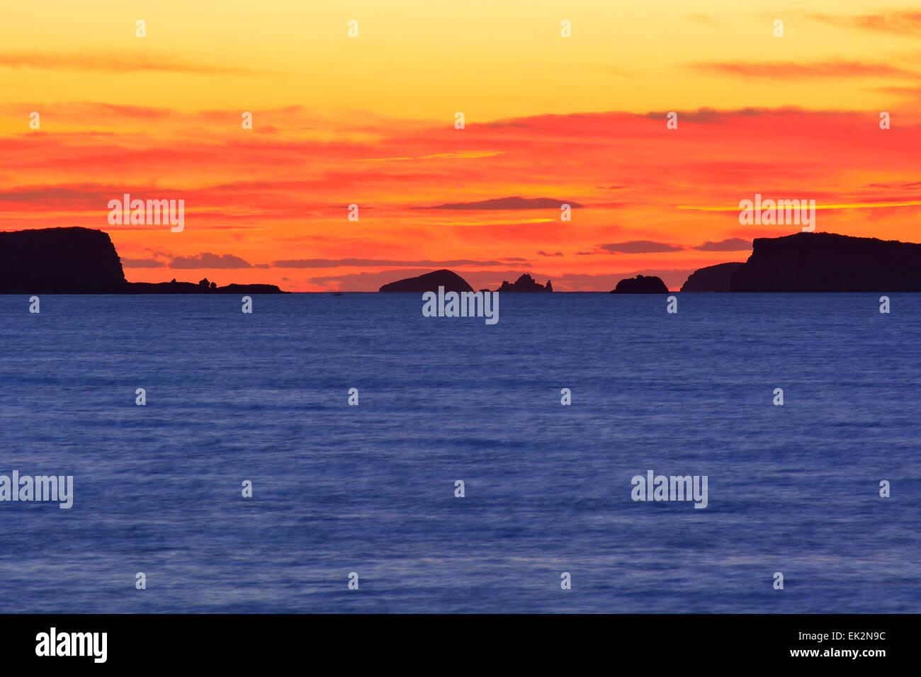 Tramonto a Ibiza, Spagna Immagini Stock