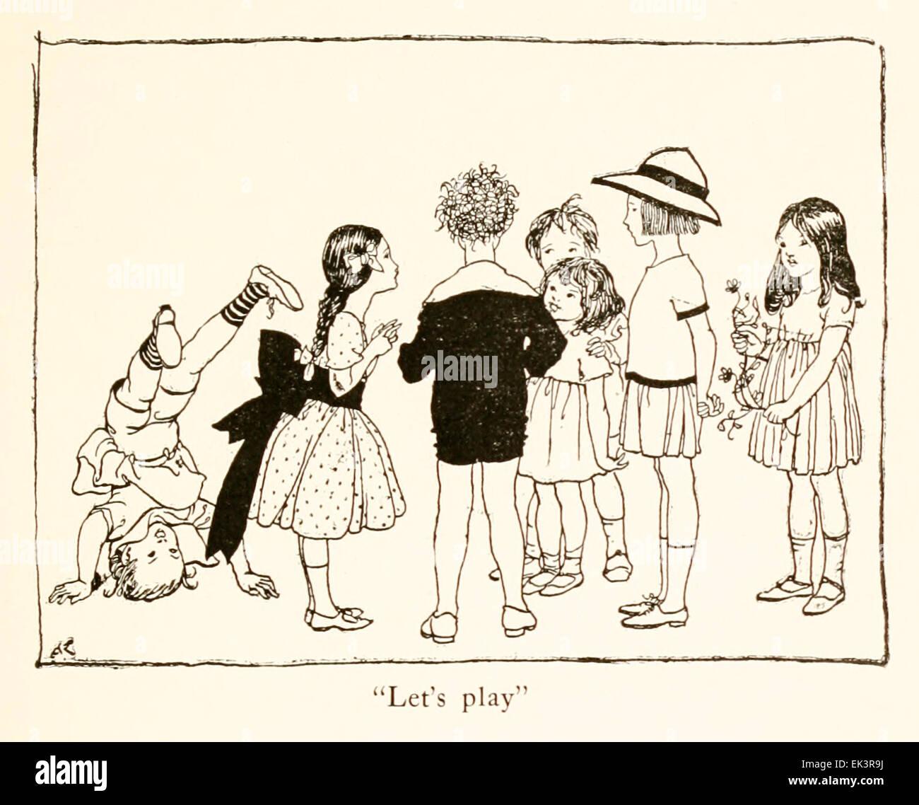 """""""Giochiamo' - Illustrazione di Arthur Rackham (1867-1939) da 'Snickerty Nick e il Gigante' di Julia Immagini Stock"""