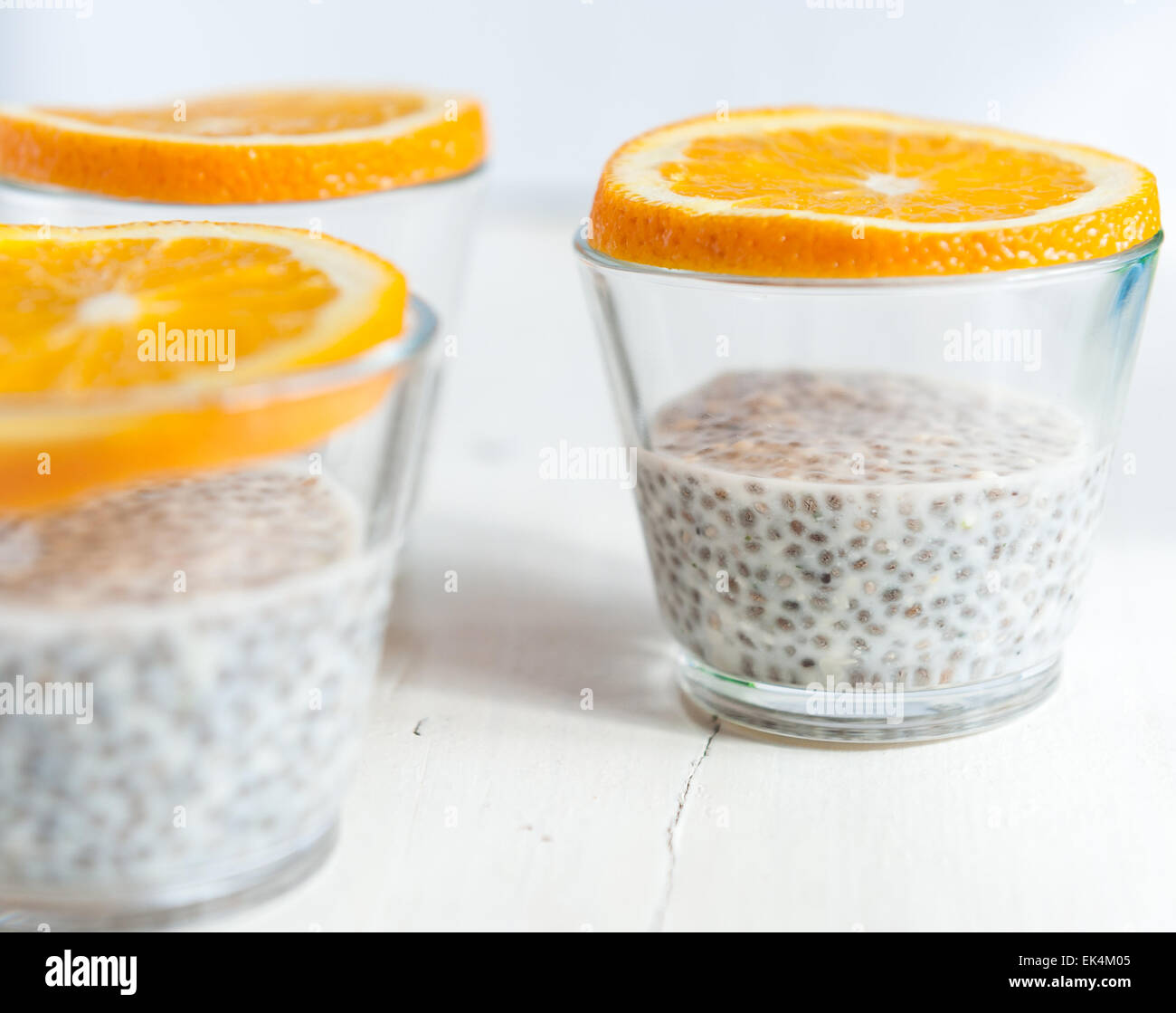 Semi di Chia pudding Immagini Stock