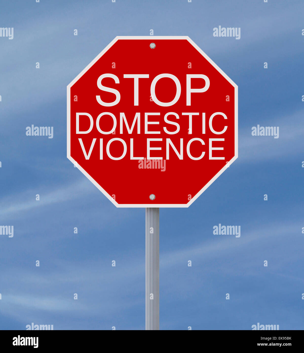 Fermare la violenza domestica Immagini Stock
