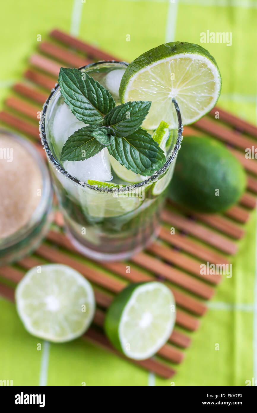 Il Mojito Lime bere cocktail Immagini Stock