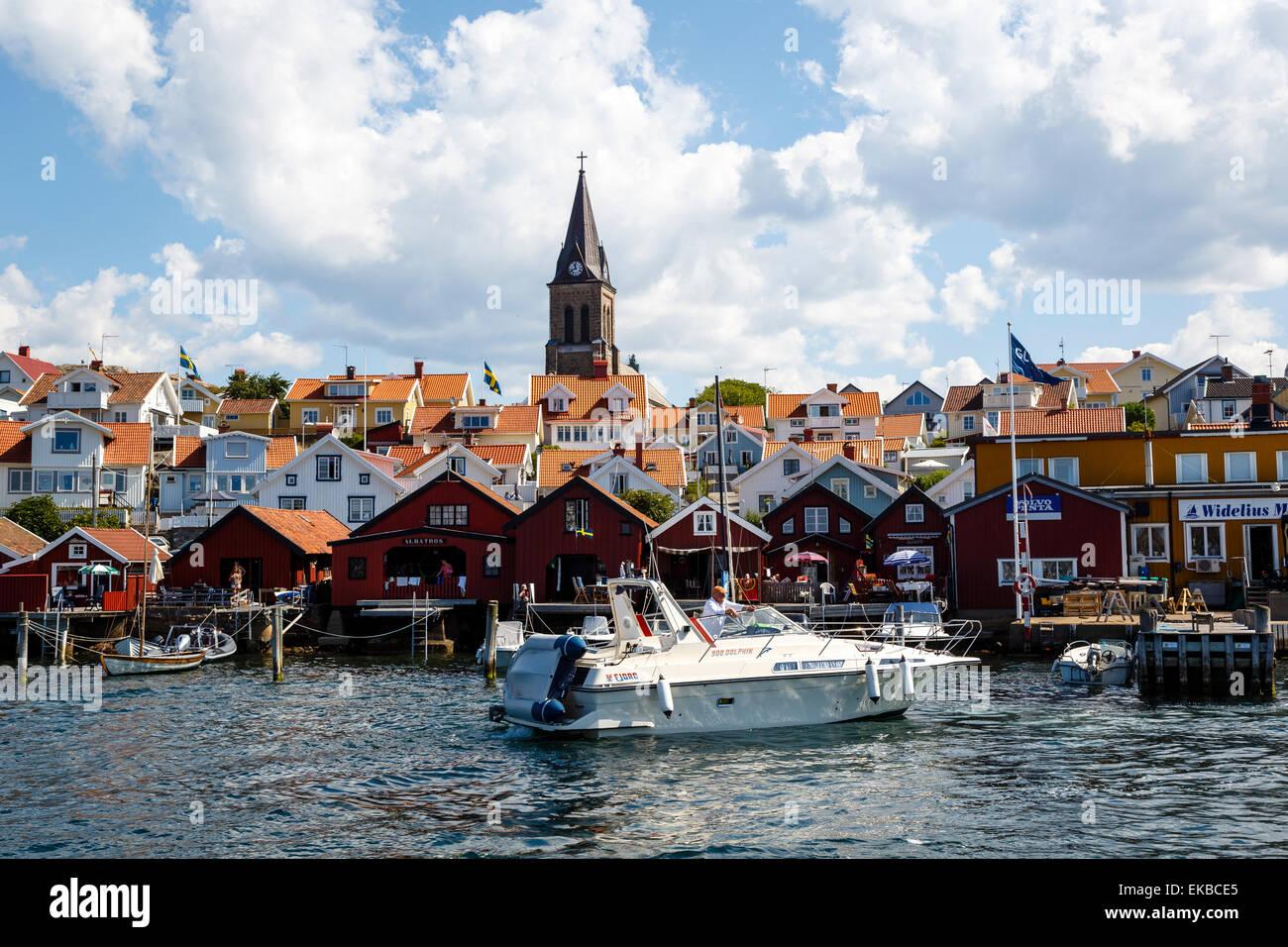 Fjallbacka, regione di Bohuslan, nella costa occidentale della Svezia, Scandinavia, Europa Immagini Stock