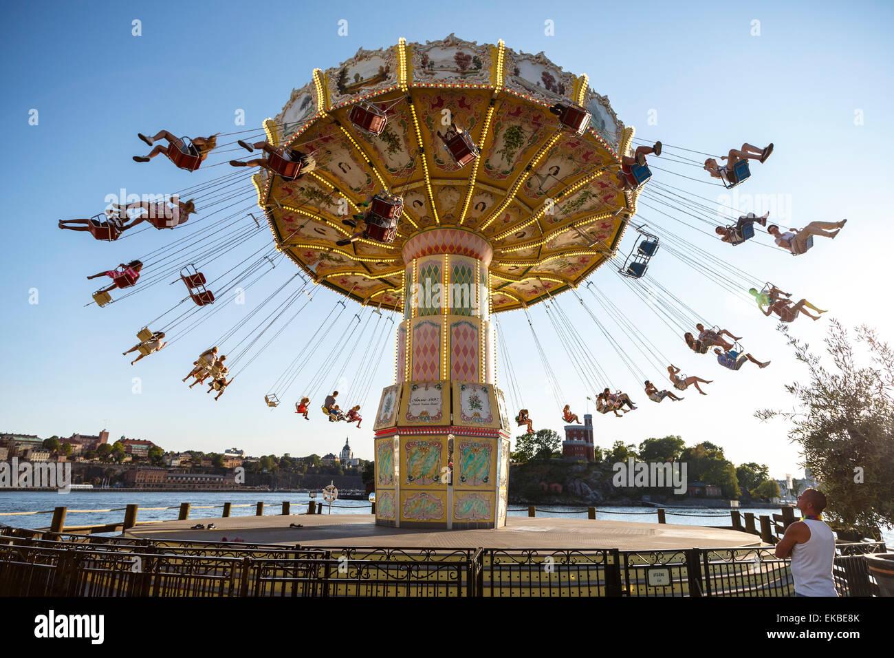 Grona Lund Amusement Park, Djurgarden, Stoccolma, Svezia, Scandinavia, Europa Immagini Stock