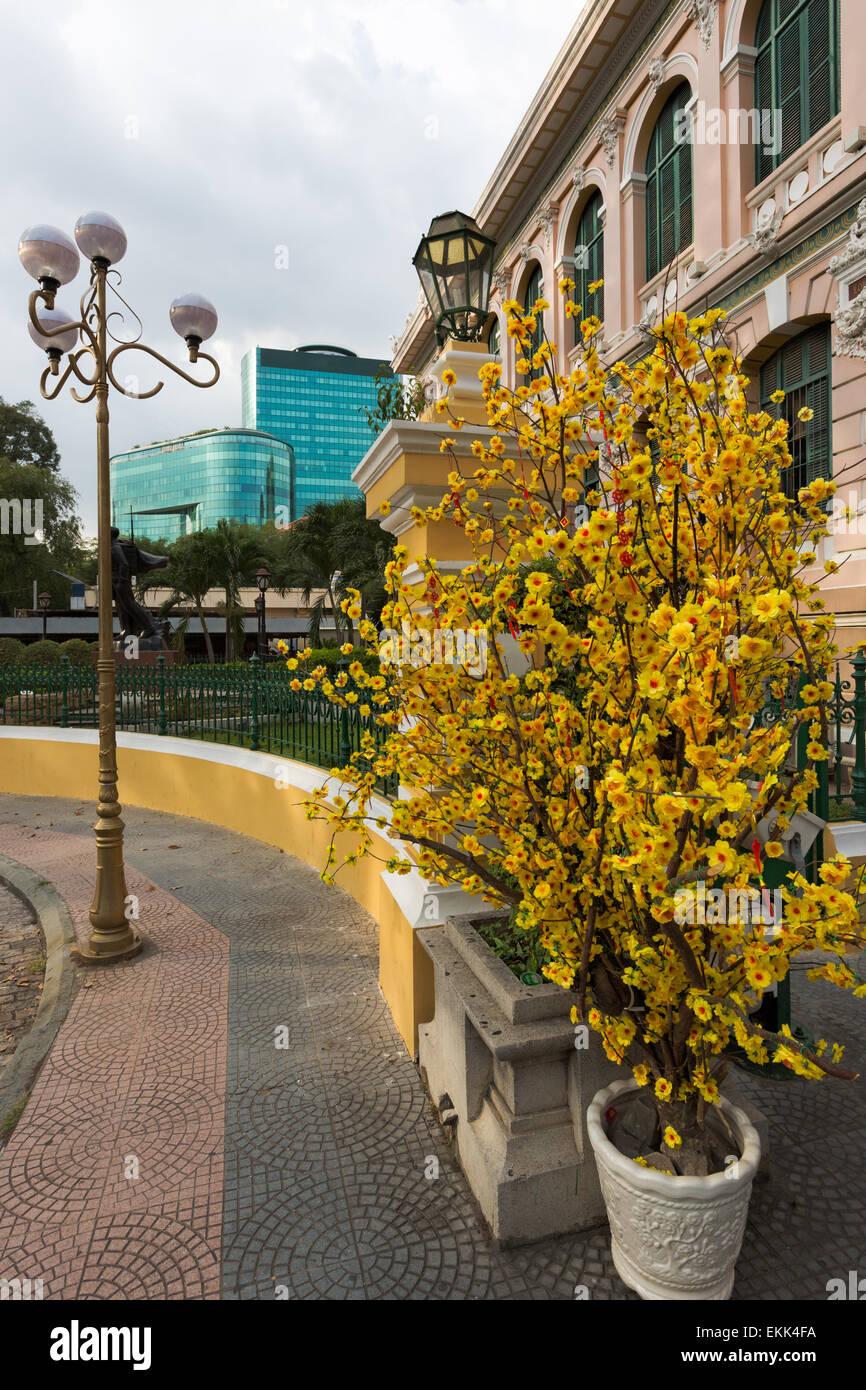 Ufficio Postale di Saigon a capodanno nuovo anno lunare, Vietnam Immagini Stock