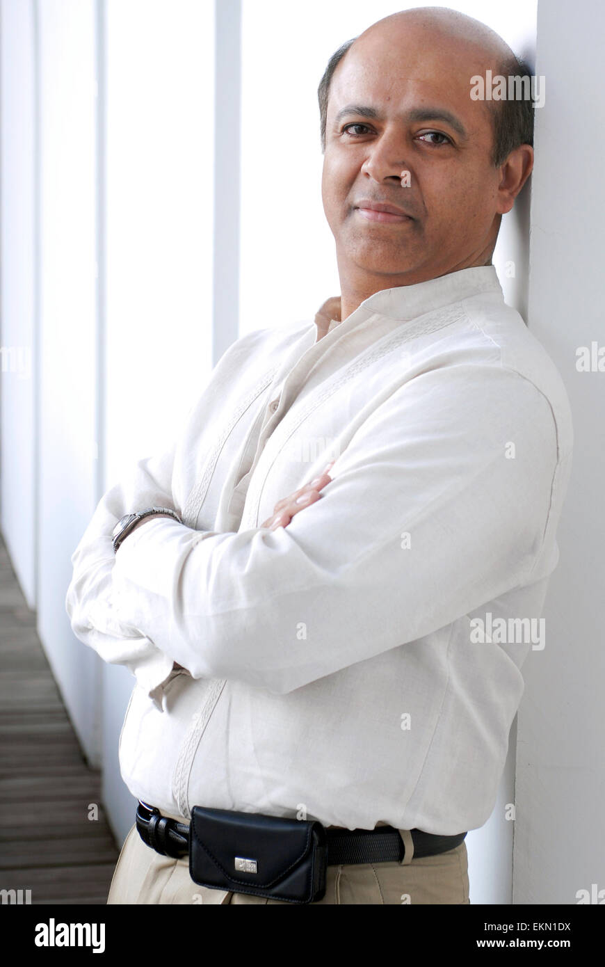 Abraham Verghese. Etiope scrittore e medico. Immagini Stock
