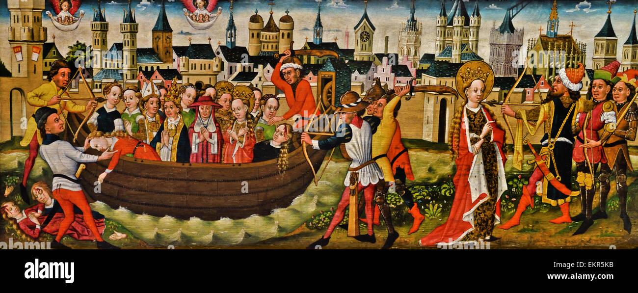 Colonia 1455 - 1460 La leggenda di Sant'Orsola; ritorno a Basilea il tedesco in Germania Immagini Stock