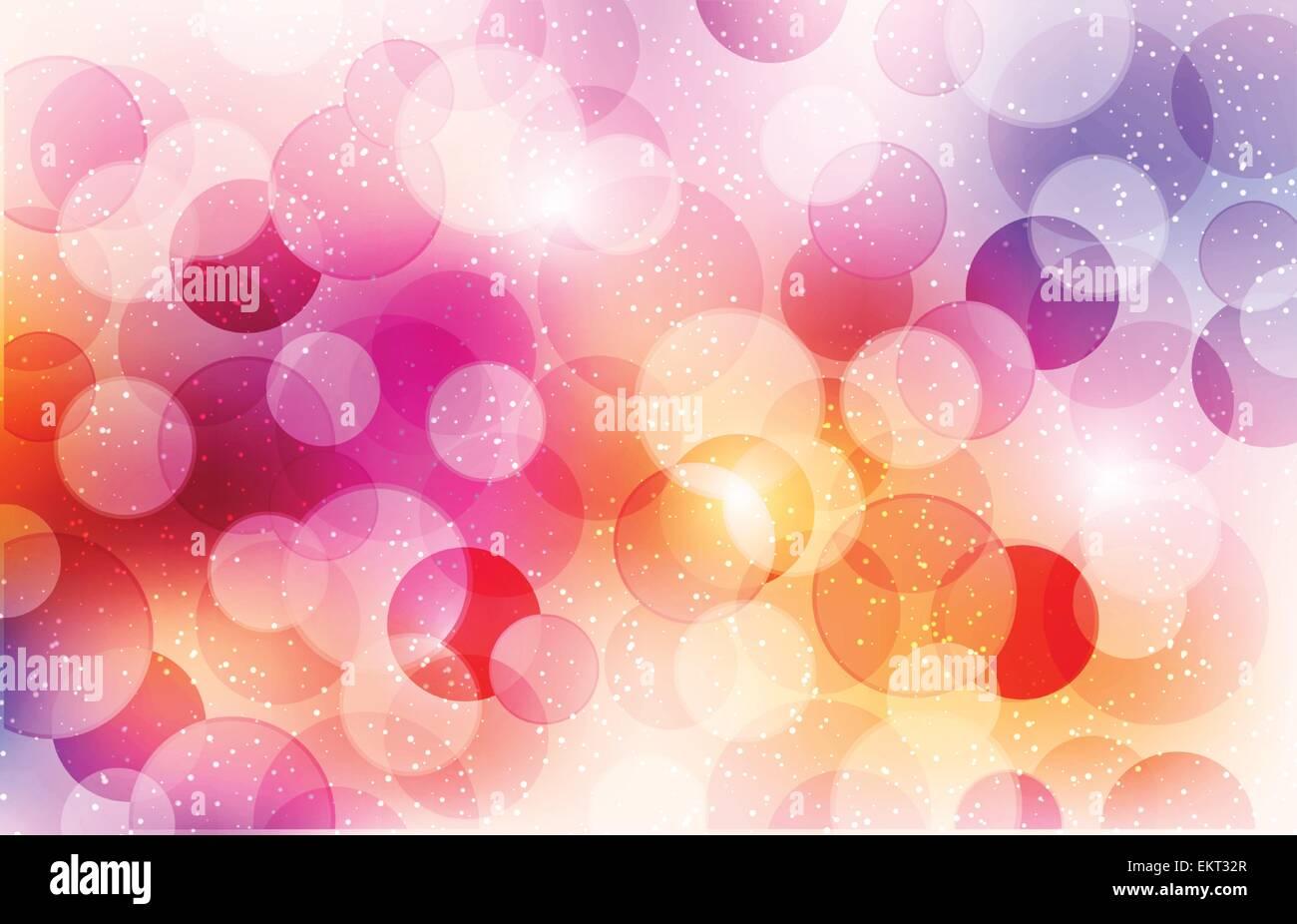 Abstract sfondo con cerchi lucido Immagini Stock