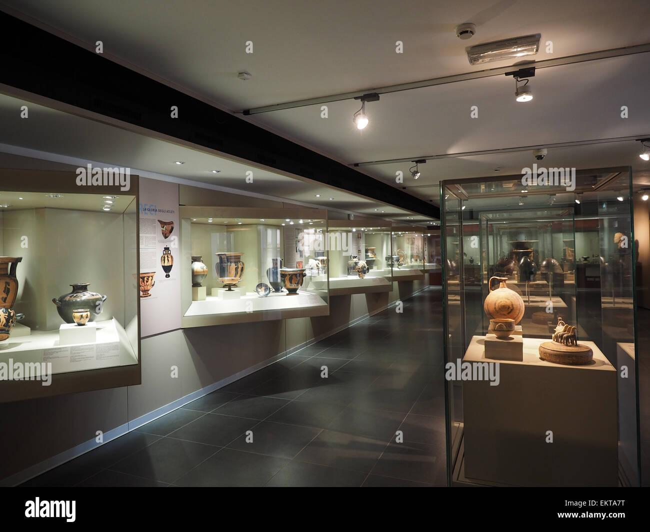 Museo archeologico, Corso Magenta street, Milano, Lombardia, Italia, Europa Immagini Stock