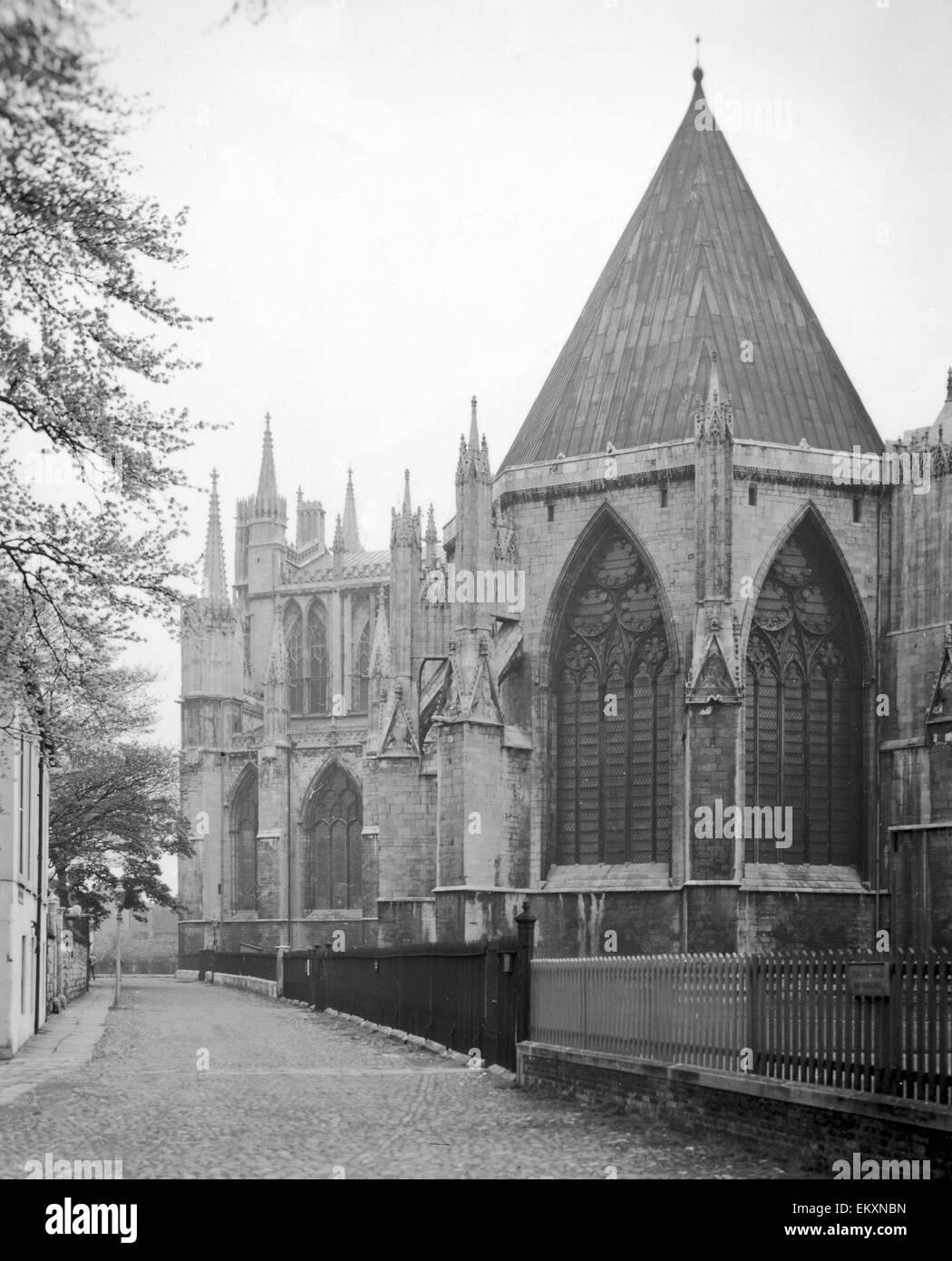 York Minster è una cattedrale gotica di York, in Inghilterra ed è uno dei più grandi del suo genere Immagini Stock