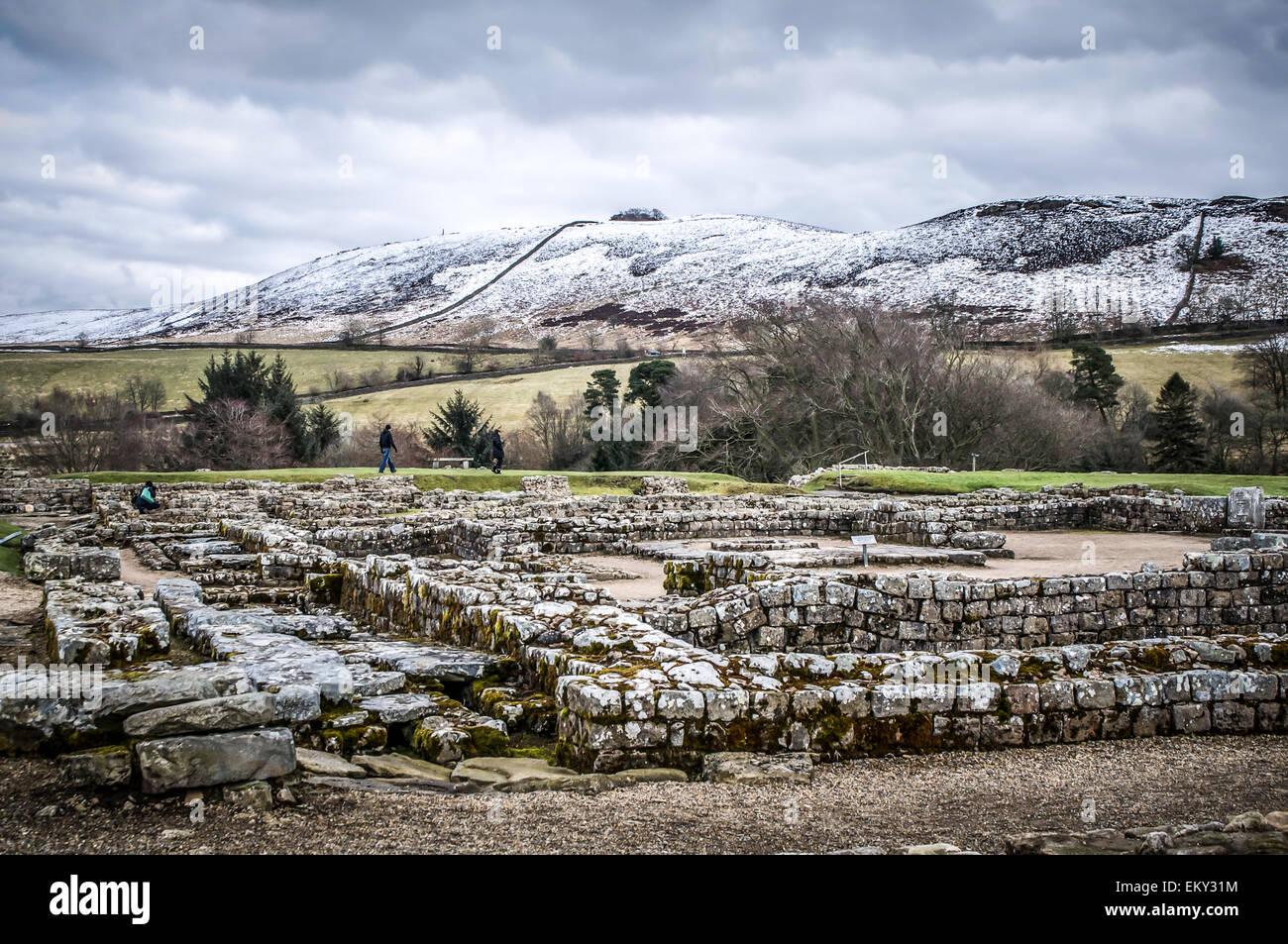 9a7b45aadcea8 Fredda giornata di gennaio presso il Vindolanda sito archeologico nei  pressi del Vallo di Adriano nel
