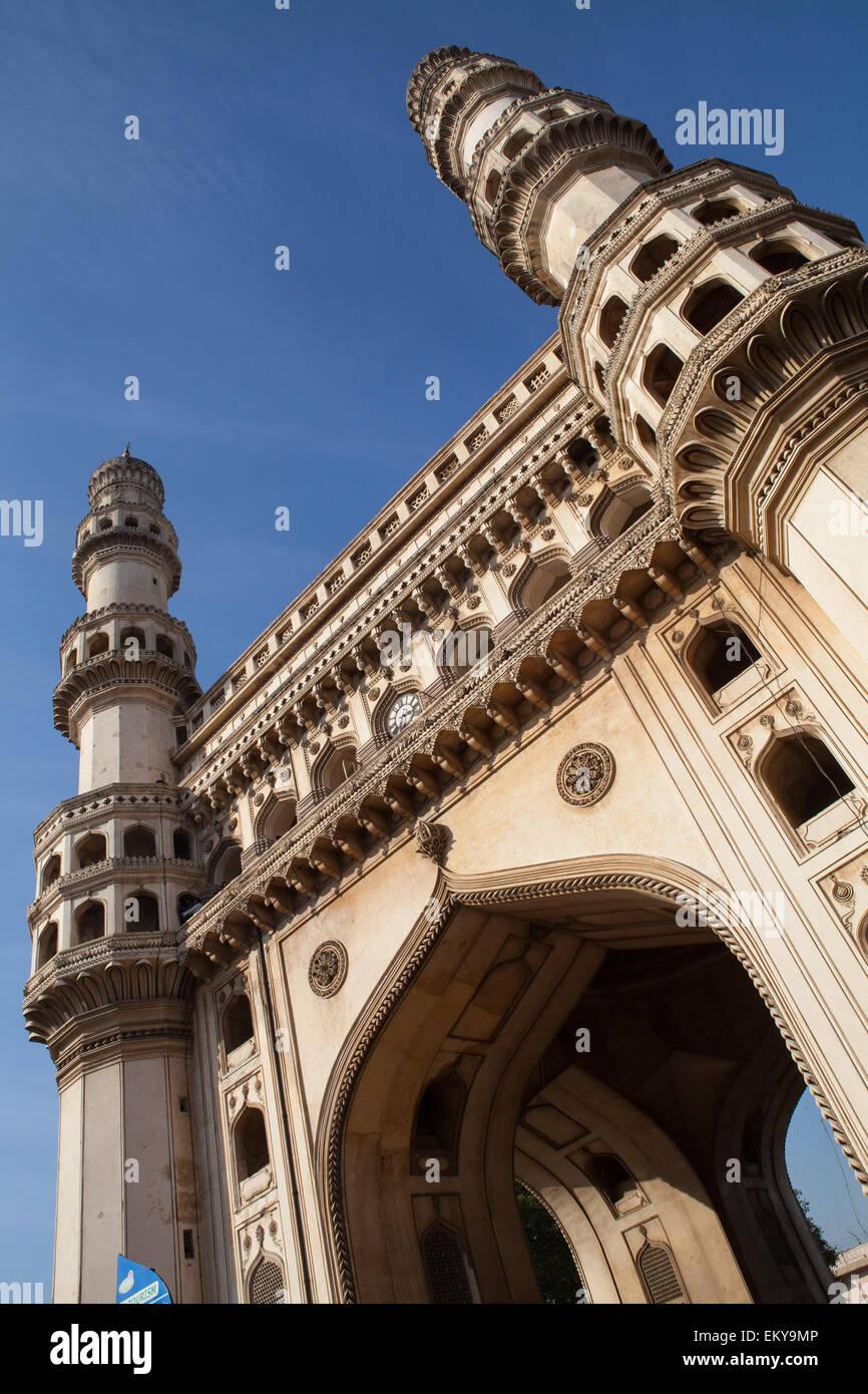 Il Charminar in Hyderabad Immagini Stock