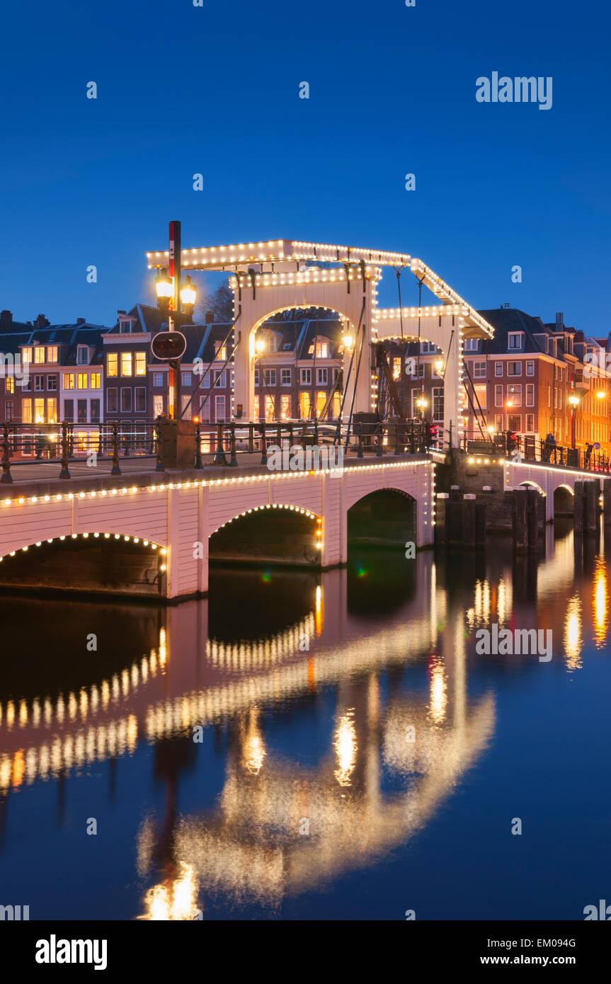 Magere Brug o Skinny Bridge Amsterdam Olanda Immagini Stock
