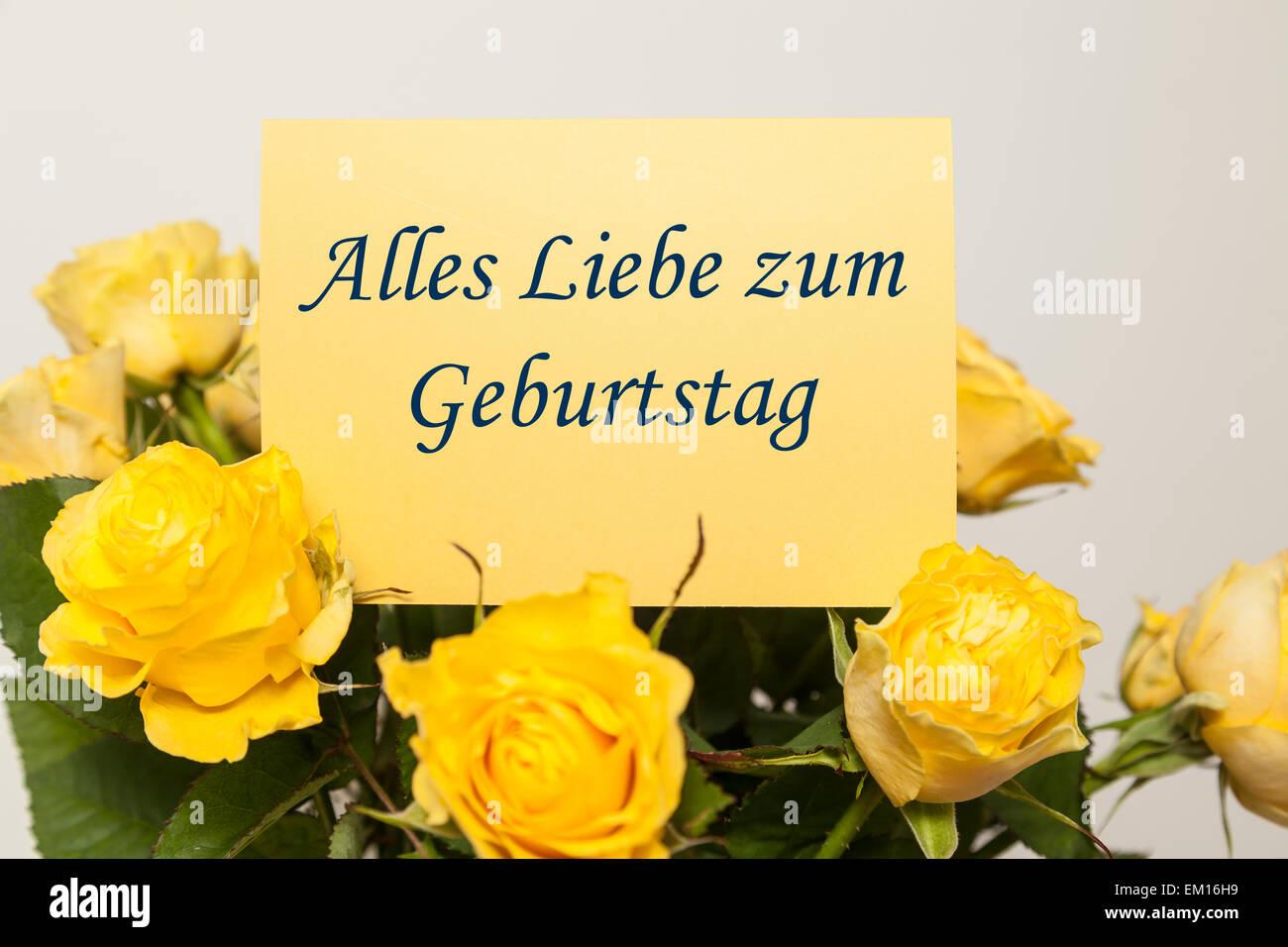 Buon compleanno (tedesco Foto & Immagine Stock: 81161733   Alamy