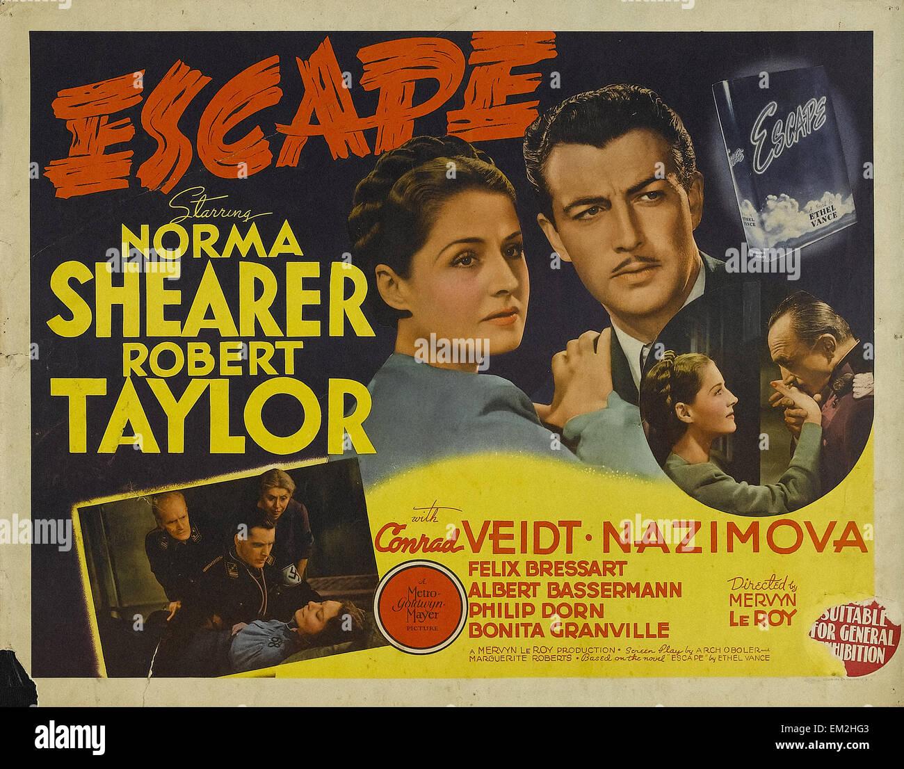 Escape - 1940 - Poster del filmato Immagini Stock