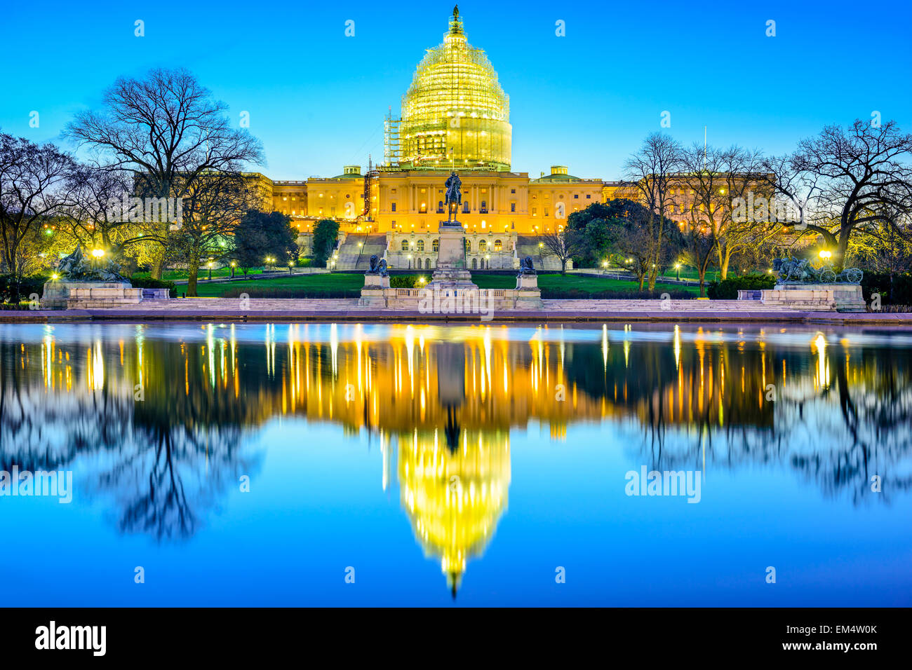 Washington D.C. in Campidoglio. Immagini Stock