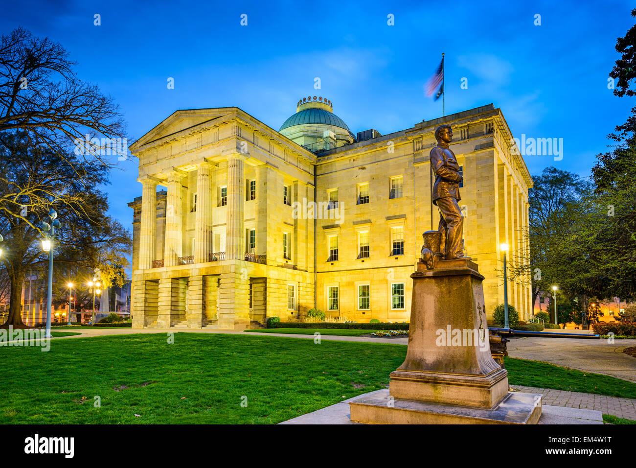 Raleigh, North Carolina, Stati Uniti d'America lo State Capitol Building. Immagini Stock