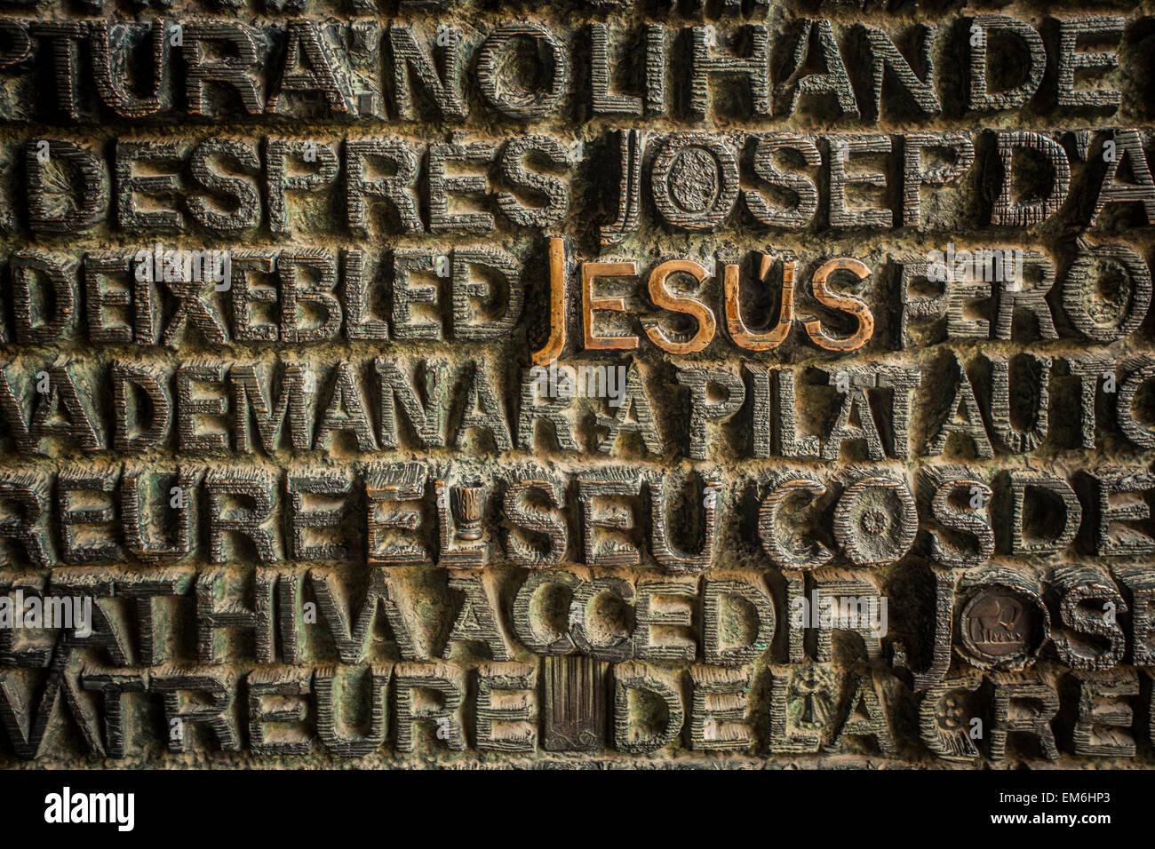 Tipografia religiosa Immagini Stock