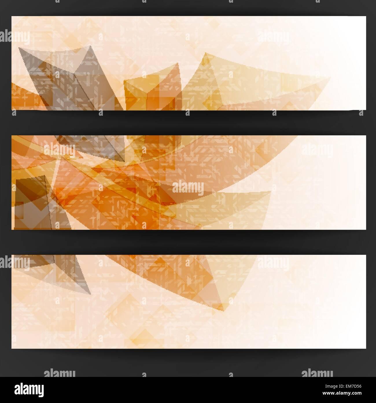 Abstract forme geometriche. Immagini Stock