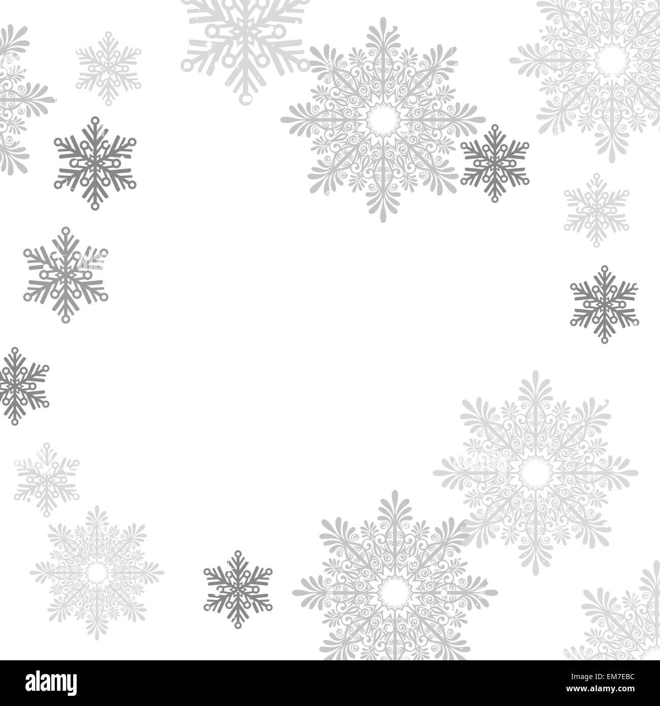 Insieme di vettori di fiocchi di neve Immagini Stock