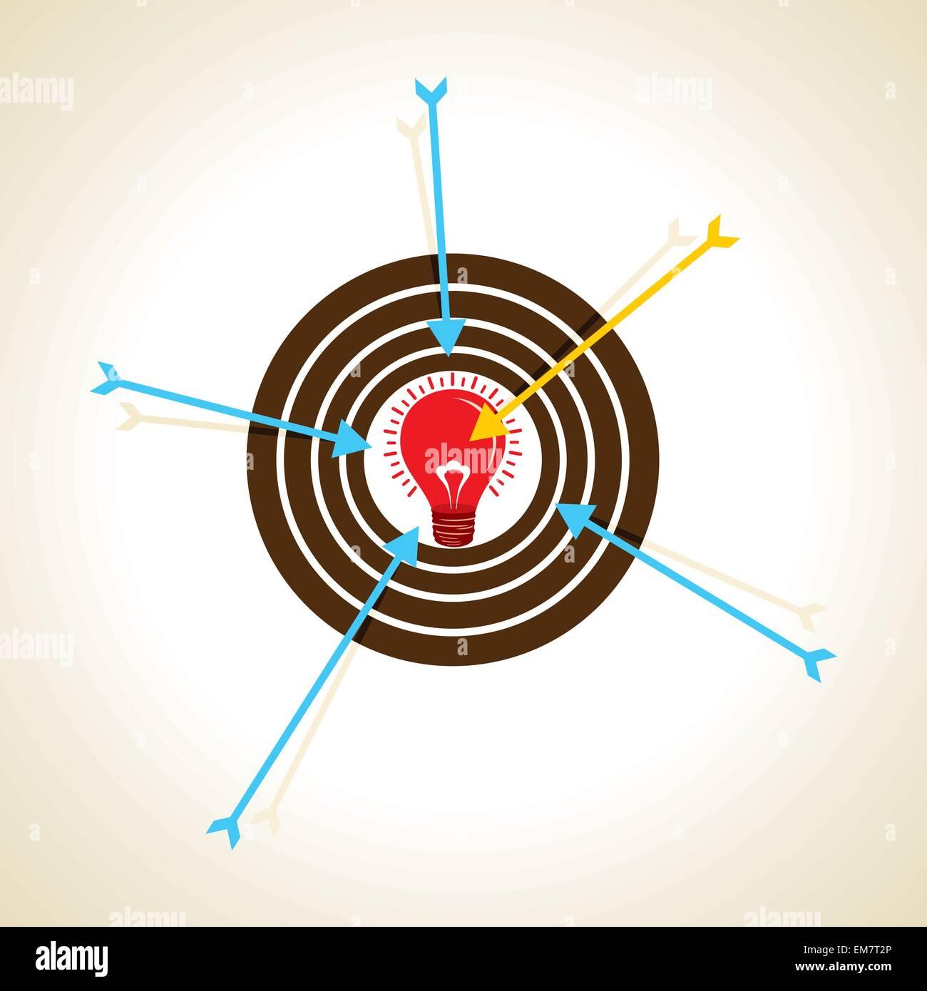 Messa a fuoco a freccia sulla nuova idea concept Immagini Stock