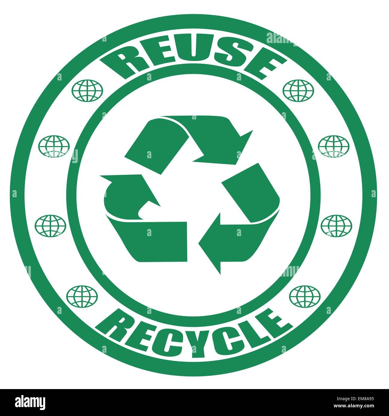 Il riutilizzo e il riciclo Immagini Stock