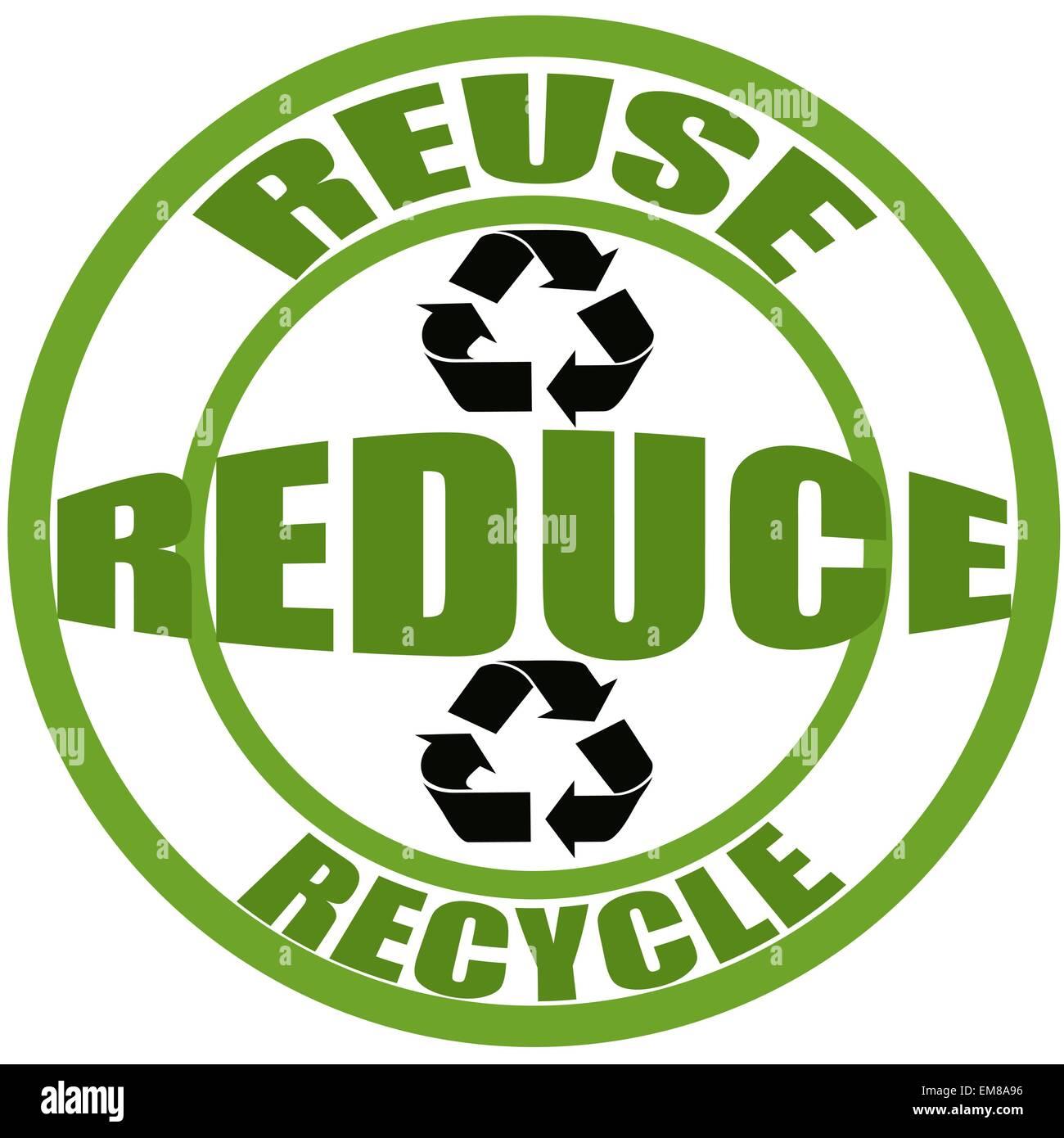 Il riutilizzo di ridurre e riciclare Immagini Stock