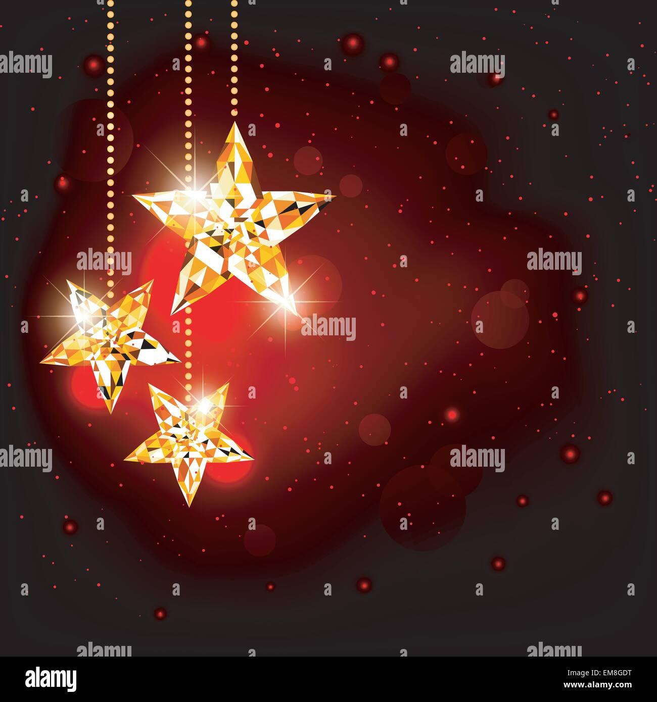 Poligono di Natale sfondo Star Immagini Stock